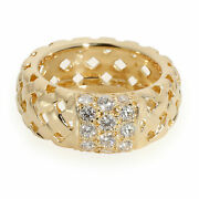 And Co. Vannerie Basket Weave Diamond Ring In 18k Yellow Gold 0.70 Ctw