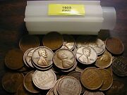 1923-p Lincoln Wheat Cent Penny Roll All Coins Fine Grade
