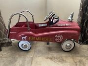 Fire And Rescue Pedal Car Truck Engine No. 7 Kids Toy