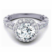 Christmas Gift 0.90 Ct Real Diamond Engagement Ring Solid 950 Platinum Size 7 6