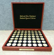 56 Gold And-silver Highlighted Statehood Quarters Collection-complete Set - A609