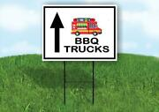 Bbq Trucks Straight Arrow Black Yard Sign With Stand Lawn Sign