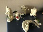 Snowbabies 4 Ornaments 1 Figurine Sold As Lot Of 5
