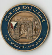 Fort Monmouth New Jersey Us Army Garrison Challenge Coin 1.5dia Gb3