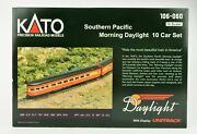 Kato N Scale 106-060 Southern Pacific Morning Daylight 10 Passenger Car Set
