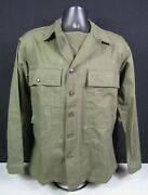 Wwii Us Army Hbt Shirt Jacket Plastic Buttons Gas Flap. Dated 3/12/45. 38r