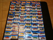 Hotwheels Car Lot 10 Of 60. Sealed On Factory Cards. Ships International.