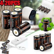 Ebl Lot 3v Cr123 16340 Li-ion Usb Rechargeable Batteries+charger For Arlo Camera