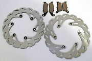 Yamaha 2001 Wr250f /wr426f / Yz250f Front And Rear Brake Pads And Sport Brake Rotors