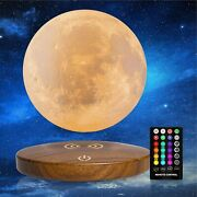 Levitating Moon Magnetic Floating Light Lamp 3d Printing Decor 3 Colors Modes