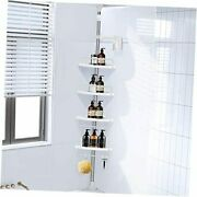 Corner Shower Caddy-4 Tier Shower Caddy Tension Pole With Stainless Steel Pole