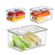 Large Vegetable Fruit Storage Containers 3 Pack Fresh Produce 3 Pack Plus