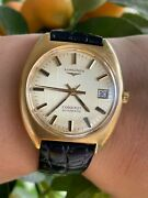 Longines Conquest Watch 1572 Automatic Cal.l633.1 Gold 18k 750 Mens Swiss Made