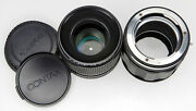 Contax 100mm F4 S-planar Bellow Lens With Custom Made Eos Mount Helicoid