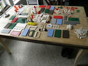 Vintage Plasticville Parts And Accessories Over 200 Pieces O Scale