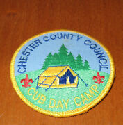 Cub Scouts Chester County Council Cub Day Camp Patch And 4 Cub Scout Scarf Clips