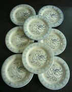 8 Louisville Stoneware Pottery Gaggle Of Geese Dinner Plates - Unused Cond.