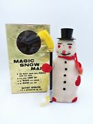 Magic Snow Man Battery Operated Christmas Mt Modern Toys Japan With Box Vintage