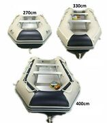 Massimo Inflatable Aluminum Board Heavy Duty Dinghy Tender Boat W/wood Transom