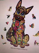 Wooden Artifact Unique Pieces Happy Dog Jigsaw Puzzle Us Seller Last One