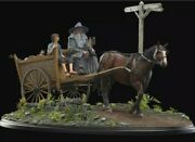 Weta Lord Of The Rings Masters Collection Gandalf And Frodo Cart Statue 122/350