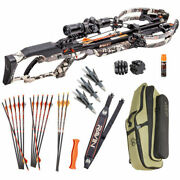 Ravin R20 Ultimate Package - Predator Camo - 15 Arrows Soft Case And Tons More