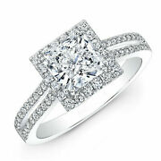 1.49 Ct Real Diamond Engagement Ring Solid 950 Platinum Women Rings Size 8 9 11
