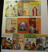 Lot Of 10 Childrens Religious Picture Books 9 St Joseph 1 Arch Bible Stories