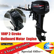 2stroke 18hp Outboard Motor Engine Fishing Boat Cdi Water Cooling 246cc 13200w