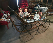 Antique Wicker Baby Buggy Stroller 1800s Pram Carriage Local Pickup Only