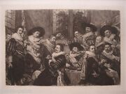 William Unger Antique Print Etching Banquet Of The Officers By Frans Halls