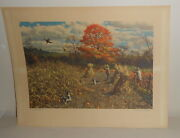 A Perfect Day A. Lassell Ripley Poster Print Signed 16x12 Bird Hunting