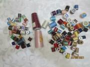 89 Spools Of Thread Assorted Brands And Colors Vintage And New - See All Our Sewing