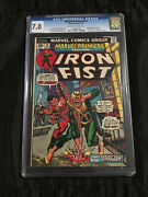 1974 Marvel Premiere 16 Cgc 7.0 2nd Ever Iron Fist And 1st Lei Kung Appearance