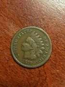1877 Indian Head Cent Penny Vg+fine Very Nice Key Date