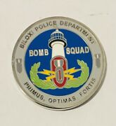 Sought After-unique-biloxi Mississippi Police-bomb Squad-police Challenge Coin