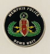 Sought After-unique-memphis Tennessee Police-bomb Unit-police Challenge Coin