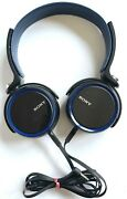 Excellent Sony Mdr-xb400 Over Ear Wired Headphones In Black 'n Blue