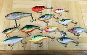 12 Unused Assorted Lipless Crankbaits Bass Walleye Trout Lures