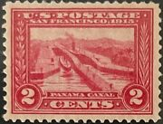 Bumppoman Stamps Scott 398 1913 2andcent Pan-pacific Expo. Panama Canal Mnh Og Vf