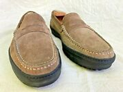 Wilson And Dean For Wilkes Bashford Gray/sand Suede Menand039s Penny Loafer Us 9