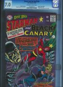 Cgc 7.0 Brave And The Bold 61 Ow/w Pg 1st Silver Age Black Canary And Starman App