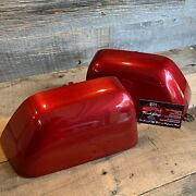 Brand New Oem 17+ Ford Super Duty Painted To Match Mirror Caps - Rapid Red