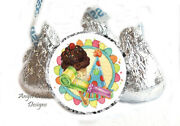 108 Ice Cream Party Hat Birthday Candy Favors Hershey Kiss Labels Kiss Stickers