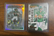 2021 Donruss Zach Wilson Rc Downtown Insert Case Hit Ssp Jets And Gridiron Kings