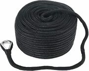 3/8 Inch 300 Ft Double Braid Nylon Boat Dock Anchor Line With Stainless Thimble