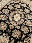High Quality Handmade Chinese Aubusson Area Rug Stunning Silk Details 9x12