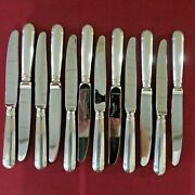 Christofle 12 Table Knives Metal Silver Model Oceana L 9 1/2in