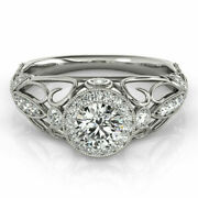 Real 0.90 Ct Round Diamond Engagement Women's Rings Solid 14k White Gold 5 8 7.5