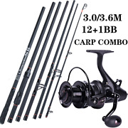 Fishing Rod Reel Combo Spinning Carbon Saltwater Freshwater Carp Bass Trout 13bb
